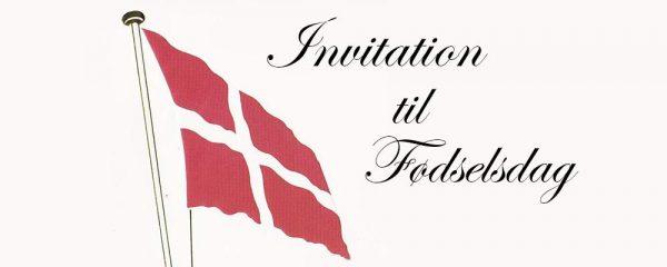 Invitation til fødselsdag med musik af Jesper Gilbert